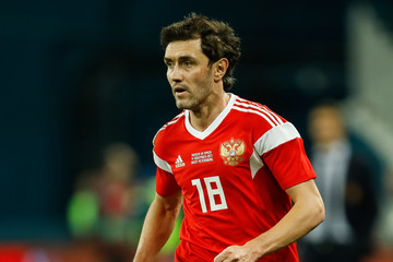 Yuri Zhirkov Russia vs Spain - International Friendly