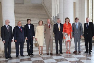 Yves Leterme King Albert II Meets with Former Prime Ministers