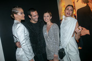 (L-R) Jasmine Sanders, Mohammed Al Turki, Elizabeth Sulcer and Olivia Culpo attend the Yves Saint Laurent Beauty and Dua Lipa celebrating the launch of the new fragrance 'Libre' at Castel Club on September 25, 2019 in Paris, France.