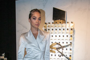 Jasmine Sanders attends the Yves Saint Laurent Beauty and Dua Lipa celebrating the launch of the new fragrance 'Libre' at Castel Club on September 25, 2019 in Paris, France.