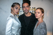 (L-R) Jasmine Sanders, Mohammed Al Turki and Elizabeth Sulcer attend the Yves Saint Laurent Beauty and Dua Lipa celebrating the launch of the new fragrance 'Libre' at Castel Club on September 25, 2019 in Paris, France.