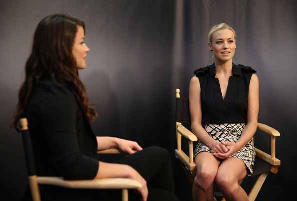 Celebs at the 'I, Frankenstein' Screening [i frankenstein,movies on demand lounge at comic con 2013,at the movies on demand lounge,sitting,event,conversation,performance,photography,chair,camille ford l,yvonne strahovski,san diego,hard rock hotel,california,comic-con international 2013]