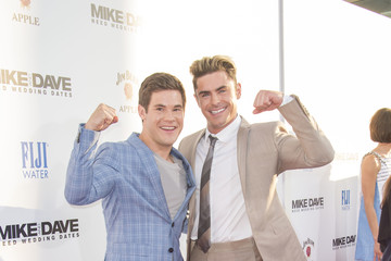 Zac Efron Adam DeVine Premiere Of 20th Century Fox's 'Mike And Dave Need Wedding Dates' - Red Carpet
