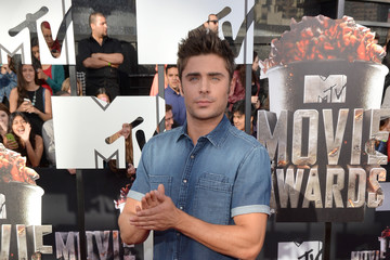 Zac Efron Arrivals at the MTV Movie Awards — Part 2