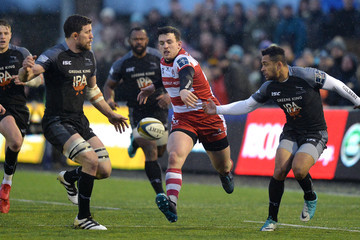 Zach Kibirige Newcastle Falcons v Gloucester Rugby - Anglo-Welsh Cup