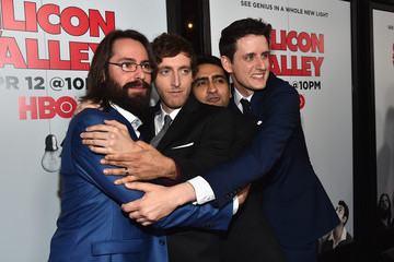 Zach Woods Kumail Nanjiani Premiere Of HBO's 'Silicon Valley' Season 2 - Red Carpet