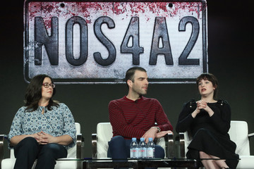 Zachary Quinto Ashleigh Cummings 2019 AMC TCA Panels And Green Room