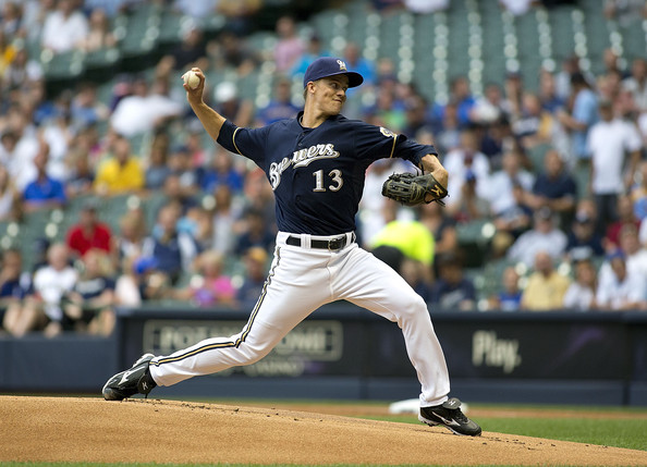 Zack Greinke - Pittsburgh Pirates v Milwaukee Brewers