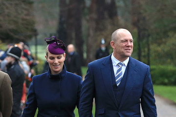Zara Tindall The Royal Family Attend Church On Christmas Day