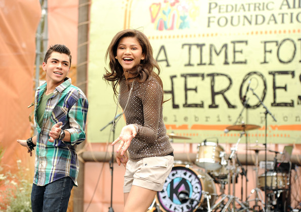 Zendaya Coleman Actors Adam Irigoyen (L) and Zendaya Coleman dance onstage during the 22nd Annual Time for Heroes Celebrity Picnic sponsored by Disney to benefit the Elizabeth Glaser Pediatric AIDS Foundation at Wadsworth Theater on the Veteran Administration Lawn on June 12, 2011 in Los Angeles, California.