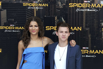 The Spider Man: Homecoming co-stars Tom Holland and Zendaya Coleman