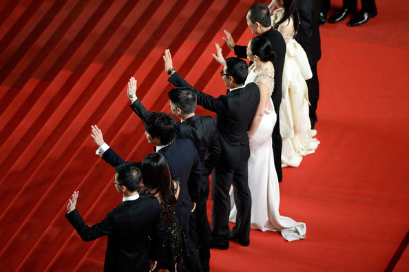 'Coming Home' Premieres at Cannes [red carpet,carpet,red,event,performance,flooring,performance art,performing arts,dance,gesture,gui lai,coming home premieres,cannes,france,cast crew,premiere,cannes film festival]