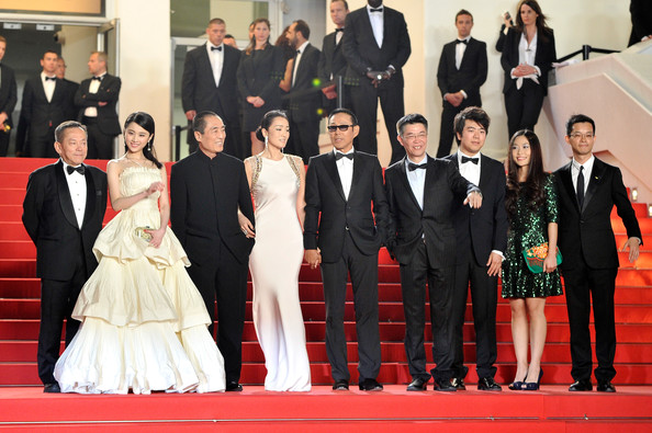 'Coming Home' Premieres at Cannes [red carpet,event,carpet,suit,formal wear,premiere,tuxedo,flooring,ceremony,zhang yimou,chen daoming,gong li,zhang zhao,zhang huiwen,gui lai,coming home premieres,cannes,2ndl,premiere]