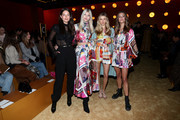 (L-R) Models Emily DiDonato, Devon Windsor, Victoria Lee and Nina Agdal attend the Zimmermann fashion show during February 2020 - New York Fashion Week: The Shows at SIR Stage37 on February 10, 2020 in New York City.