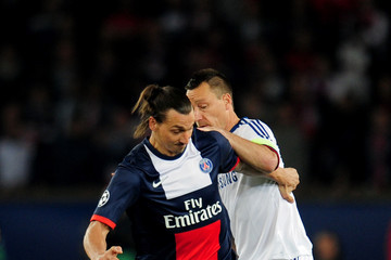Zlatan Ibrahimovic Paris Saint-Germain FC v Chelsea