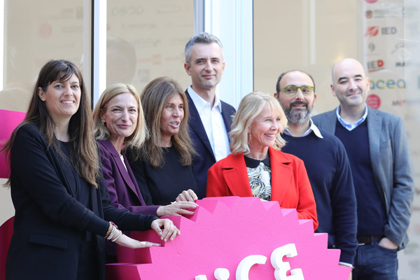 Taodue Jury Photocall - 12th Rome Film Fest [red,social group,pink,event,community,team,smile,businessperson,tourism,employment,l-r,taodue jury photocall - 12th rome film fest,photocall,guest,fabia bettini,trudie styler,marco danieli,camilla nesbitt,zoe r. cassavetes,nicola guaglianone]