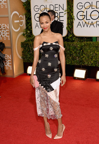 Zoe Saldana - 71st Annual Golden Globe Awards - Arrivals