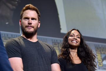 Zoe Saldana Chris Pratt Marvel Studios Hall H Panel