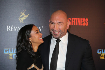 Zoe Saldana Dave Bautista Remy Martin Presents 'Guardians of the Galaxy Vol. 2' Screening and After-Party
