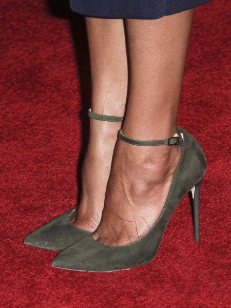 Grand Opening Of Funko Hollywood - Arrivals [hollywood - arrivals,zoe saldana,shoe detail,funko hollywood,hollywood,california,funko hollywood store,funko,grand opening,grand opening]