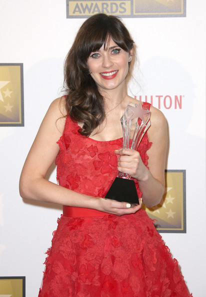 Zooey Deschanel - Broadcast Television Journalists Association Second Annual Critics' Choice Awards - Press Room