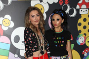 Paris Jackson (L) and Stacey Bendet attend the alice + olivia by Stacey Bendet x FriendsWithYou Collection LA launch party at the Hollywood Athletic Club on November 07, 2019 in Hollywood, California.