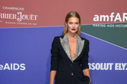 Toni Garrn attends the amfAR Gala Milano 2019 at Palazzo Mezzanotte on September 21, 2019 in Milan, Italy.