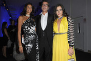 (NO ITALY SALES UNTIL OCTOBER 26, 2011) Marco Maccapani (C) and Teresa Missoni (R) attend attends amfAR MILANO 2011 at La Permanente on September 23, 2011 in Milan, Italy.