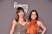 Milla Jovovich and Michelle Rodriguez attend the amfAR New York Gala 2019 at Cipriani Wall Street on February 6, 2019 in New York City.