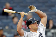NEW YORK, NY - May 11:  Matt Holliday #17 of the New York Yankees stretches before batting during an MLB game against the Houston Astros on May 11, 2017 at Yankee Stadium in the Bronx borough of New York City. Astros won 3-2.