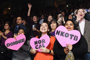 New Kids On The Block fans attend the iHeart80s Party 2017 at SAP Center on January 28, 2017 in San Jose, California.