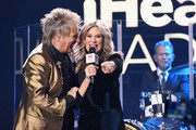 Rod Stewart speaks with host Ellen K onstage at iHeartRadio LIVE at iHeartRadio Theater on November 27, 2018 in Burbank, California.