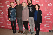 """(L-R) Malin Akerman, Sam Elliott, Blythe Danner, Martin Starr and Rhea Perlman attend the """"I'll See You In My Dreams"""" premiere during the 2015 Sundance Film Festival on January 27, 2015 in Park City, Utah."""