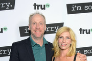 """Actors Matt Walsh (L) and Morgan Walsh at the premiere screening of truTV's new scripted comedy """"I'm Sorry"""" at the SilverScreen Theater at the Pacific Design Center on June 13, 2017 in Los Angeles, California. 27060_001"""