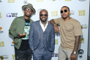 """(L-R) Larenz Tate, Jermaine Dupri and Bow Wow attend WE tv """"Power, Influence & Hip Hop: The Remarkable Rise Of So So Def"""" celebration and Season 3 of """"Growing Up Hip Hop Atlanta"""" at The London West Hollywood on July 16, 2019 in West Hollywood, California."""