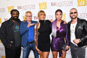 "(L-R) Ricky Williams, Kato Kaelin, Tamar Braxton, Natalie Eva Marie, and Joey Lawrence are seen as We TV celebrates the premiere of ""Braxton Family Values"" at Doheny Room on April 02, 2019 in West Hollywood, California."