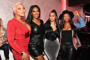 "(L-R) Eva Marcille, Kenya Moore, Tammy Rivera, and Kandi Burruss attend the premiere of ""Waka & Tammy: What The Flocka"" at Republic on March 10, 2020 in Atlanta, Georgia."