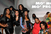 "(L-R) Kenya Moore, Tammy Rivera, Waka Flocka, Kandi Burruss, Bone Crusher, and Aneesah Hardnett attend the premiere of ""Waka & Tammy: What The Flocka"" at Republic on March 10, 2020 in Atlanta, Georgia."