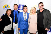 (L-R) Actors Gabrielle Carteris and Ian Ziering, celebrity wedding planner David Tutera, and actors Tori Spelling and Dean McDermott attend an event, hosted by WE tv and Ian Ziering, to raise awareness for Canine Companions for Independence at Boulevard 3 on May 7, 2015 in Los Angeles, California.