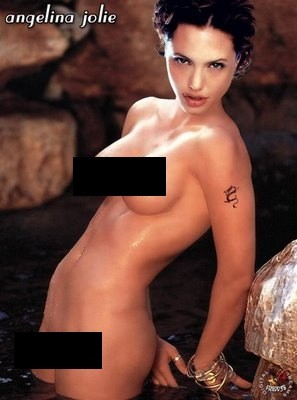 naked angelina jolie