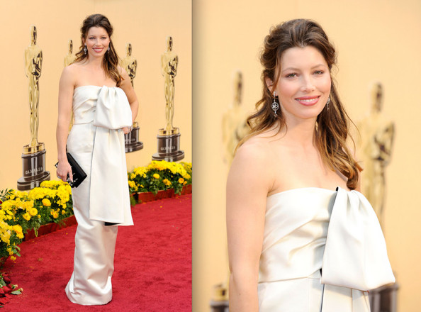 jessica biel hairstyle. At last night's Academy Awards, Jessica Biel proved that yes, Prada can look