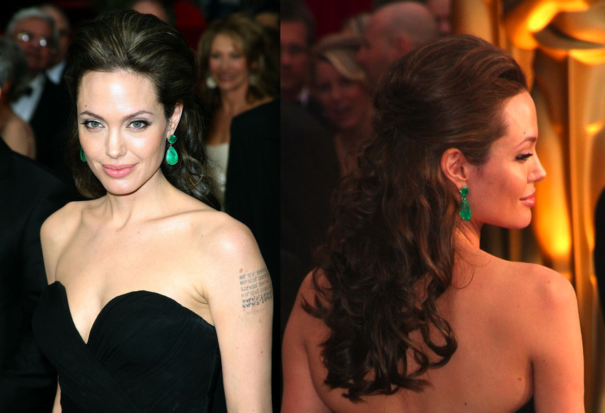 Angelina Jolie Formal Hairstyle Ideas - Celebrity Prom Hairstyles - Zimbio