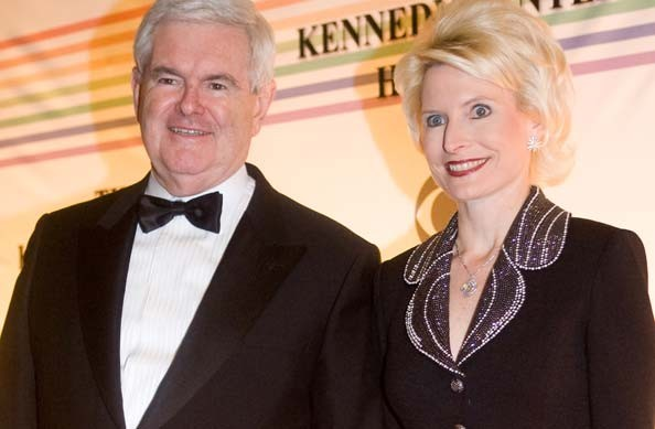 newt gingrich wives pictures. Newt Gingrich arrives with