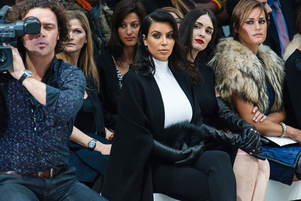Kim K Sits Front Row at Paris Show, Is Not Amused