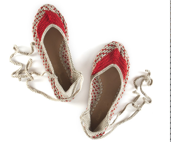Current Obsession: Painted Bird Crocheted Flats