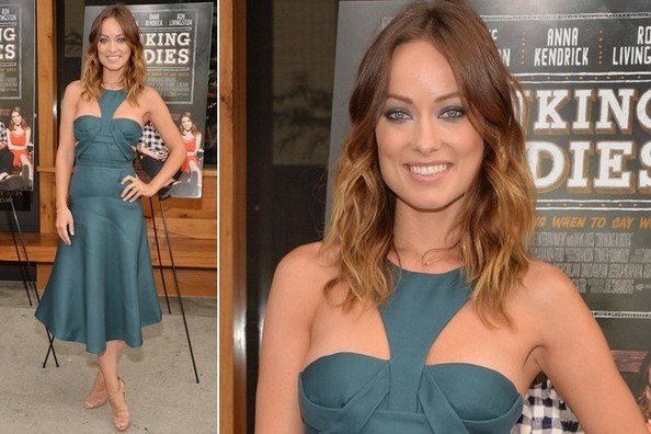 Olivia Wilde's Sporty Teal Cutouts