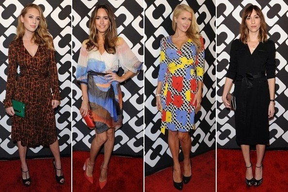 8 Great Wrap Dresses at Diane Von Furstenberg's 40th Anniversary 'Journey of a Dress' Party