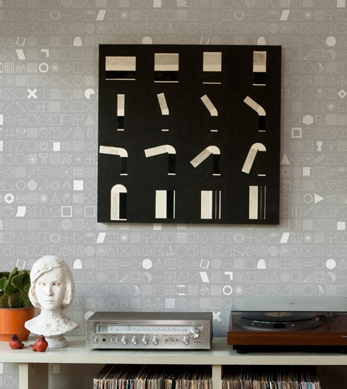 Eco Find of the Day: 100 Things Wallpaper by Makelike