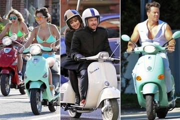 Celebs on Scooters