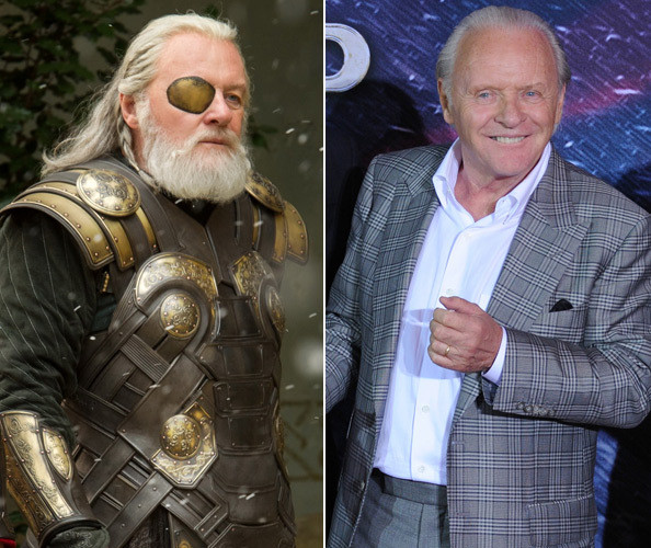 Anthony Hopkins as Odin - 'Thor' Stars In & Out of Costume ...
